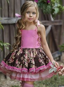 Dollcake blooming field floral ruffle dress 5 6 7
